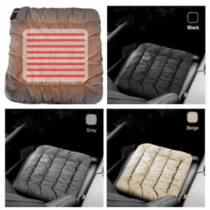 Black/Gray/Beige Car Cushion Plush Heated Front Seat Cover Chair 5V Warmer Pad