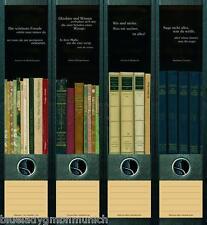 File Art 4x Ordner-Etiketten BOOKS QUOTES ★ ZITATE RÜCKENSCHILDER Sticker 050