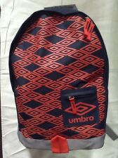 Umbro Titus US/Sac à dos/School Bag Grey/Red-orange/black New with tags
