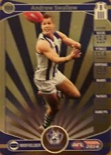 2014 afl TEAMCOACH GOLD NORTH MELBOURNE ANDREW SWALLOW #100 CARD FREE POST