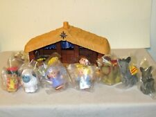 12pc Fisher Price Chunky Little People Nativity Musical Stable & Sealed Parts