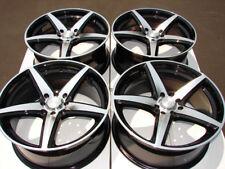 17 4x100 4x114.3 Black Rims Fits Altima Accord Integra Civic Sentra 4 Lug Wheels