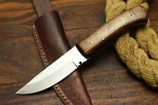 LOUIS MARTIN CUSTOM HANDMADE HAMMERED D2 TOOL STEEL ART HUNTER SKINNER KNIFE