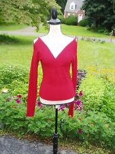 FORENZA COLD SHOULDER SWEATER, RED