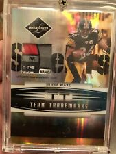 2006 HINES WARD PLAYOFF JERSEY LOGO PATCH STEELERS #5/30 leaf GAME USED