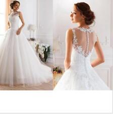Ivory White A Line Bridal Gowns Line Bride Appliques Vintage Wedding Dresses New
