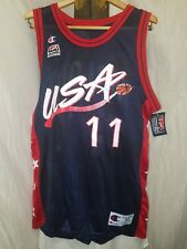 NEW Team USA Vintage Basketball Jersey by Champion sz 44 Large #11 Karl Malone