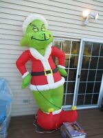 GIANT 8' GRINCH STOLE CHRISTMAS Inflatable Airblown Lights Up GEMMY DR SEUSS box