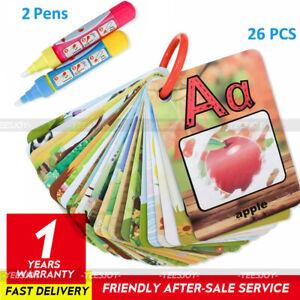 Water Magic Cards Preschool Educational Toys Reusable Coloring Cards + 2 Pens
