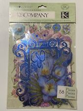 K & Company's TC COTTAGE GARDEN Cool Mix DIE-CUT CARDSTOCK- 1 pack- 58 pieces