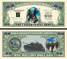 US Army classic-style Million Dollar Bill Fake Play Funny Money Novelty Note