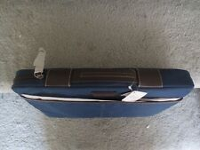 "Coach 15"" Nylon Laptop Sleeve Navy Blue Nylon with Brown Leather Trim"