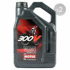Motul 300V 4T 15w-60 Factory Line Off Road Motorcycle Engine Oil 2 x 4 Litres 8L