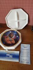 Star Trek Tng Lieutenant Worf Plate Thomas Blackshear Signed Autograph Coa