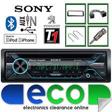 PEUGEOT 206 CC SONY CD MP3 USB BLUETOOTH VIVAVOCE AUTO RADIO STEREO KIT DI MONTAGGIO