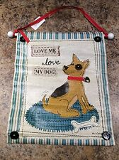 Love Me Love My Dog Vinyl Canvas Wall Hanging - Make An Offer!