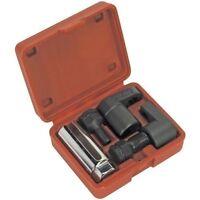 Sealey 22mm Deep Oxygen Sensor Socket & Thread Chaser Tool Set 5 Piece