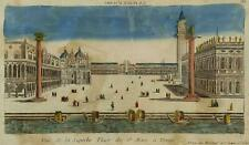 Venice Venezia Piazza San Marco Optical View Vue d'optique Original Copper Plate