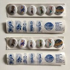 SPICE GIRLS Spiceworld 1997 US promotional badges set of 6 FACTORY SEALED