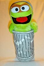 "Oscar The Grouch Plush Sesame Street 13"" 2004 Trash Can"