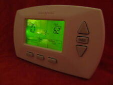 Honeywell RTH 6350  Digital 5-2 Day Programmable Thermostat  Green display.