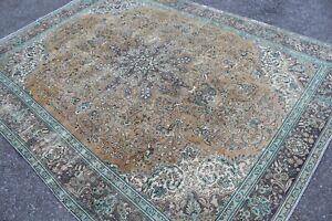 """12x9 Oversize Vintage Handmade Turkish Large Area Rug 148""""x110"""""""
