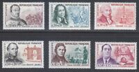 France 1961 MNH Mi 1349-1354 Sc B350-B355 Famous frenchmen.Superb **
