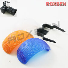 New 3 color Pop Up Flash diffuser set for Canon Nikon Pentax Olympus DSLR Camera