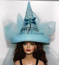 Turquoise & Teal Dragonfly Pin Fairy Salem Witch Hat #54 Doll Bottle Ornament
