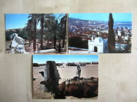 Lot Sammlung Postkarten 3x ALGERIE Algerien Afika Africa ua. Wüste Oase Kamel