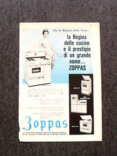 M175- Advertising Pubblicità -1960- ZOPPAS , LA REGINA DELLE CUCINE
