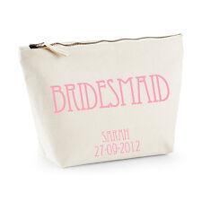 Personalised Bridesmaid Make-up/WashBag - Pale Pink/Vintage- Gift/Wedding Favour