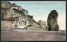 cartolina VENTIMIGLIA le rocher-lo scoglio alto sulla spiaggia del mare