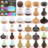 7Color Aroma Essential Oil Diffuser Wood Grain Aromatherapy Air Humidifier 450ML