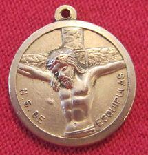 Antique Catholic Religious Holy Medal - E.S. DE ESQUIPULAS / RECUERDO DE ENERO