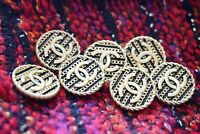 Sewen 100%  Chanel buttons lot of 7 pieces   metal cc logo 0,8 inch 20 mm
