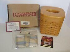 Longaberger 1997 Tall Tissue Basket Combo w/ Lid Cornflower Plaid