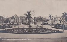 PERU' - Lima - Monumento a Bolognesi y Paseo Colon - Photo Postcard