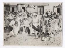 PHOTO Le Touquet 1930 Famille Plage Transat Chapeau Soleil Été Chaise longue