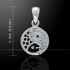 Yin Yang Fish .925 Sterling Silver Pendant by Peter Stone