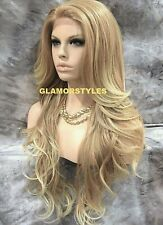 Hand Tied Monofilament Lace Front Full Wig Long Blonde Mix T27/613 NWT