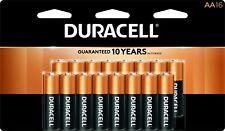 Duracell, batteries,  aa, 1.5v, mn1500b16, aa16, 16