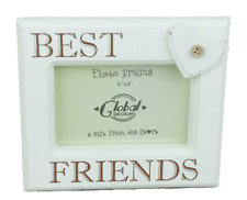 Shabby Chic Best Friends Picture Frame Gift for a Special Friend 6 x 4 Cream