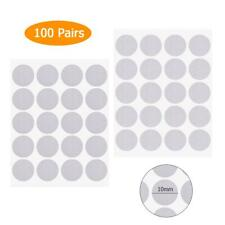 100 Pairs Dot Sticker Hook Loop Double-Sided Self-Adhesive Nylon Tape 10mm