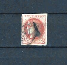 "FRANCE STAMP TIMBRE 40 Ba "" BORDEAUX 2c ROUGE BRIQUE "" OBLITERE SIGNE  R442"