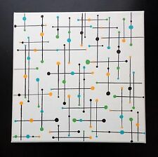 Mid Century Modern Wall Art Atomic 1950s geometric Retro Tiki Vintage Rockabilly
