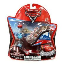 Disney Cars Cars 2 Series 2 Squinkies 4-Pack Mini Figures with Ramp NEW