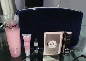Lancome 6 Piece Skincare Gift Travel Mini Set Juicy Tubes/Tonique Confort/Idole