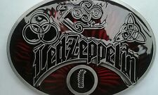 Pewter & maroon emamel 'Led Zeppelin' Belt buckle.