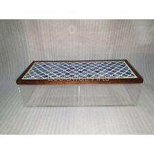 Bone Inlay Blue Mughal Design Acrylic Storage Box